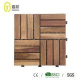 Jardin extérieur imperméable Acacia décoratifs de verrouillage un plancher en bois Tablier de bois carreaux en prix bon marché