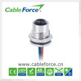 M12 여성 3pin 케이블 연결관 방수 연결관 전자 연결관