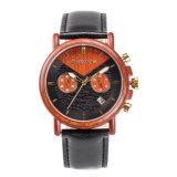 Нержавеющая сталь с деревянным wristwatch кварца людей способа Wristband воды 3ATM упорным