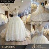 2017 новых изготовленный на заказ больших плюс платье венчания мантии шарика размера