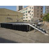 Ajustável em alumínio portátil palco de concertos de eventos ao ar livre