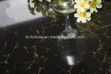 Telhas de assoalho Polished da porcelana do material de construção dobro preto do carregamento de Bulatti da cor
