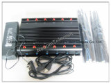 Último diseño Jammer 12 antena GSM/CDMA/DCS/PHS Teléfonos Móviles, GPSL1 Jammer, Lojack Jammer para 2g+3G+2.4G+4G+GPS+Lojack+Control Remoto