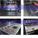La machine/Thaïlande frites de roulis de crême glacée a roulé la machine frite de crême glacée