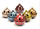 Bruciatore di incenso decorativo di ceramica del mestiere della porcellana del nuovo prodotto dell'OEM