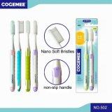 Toothbrush adulto com as cerdas macias Nano 2 em 1 bloco 502 da economia