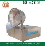 Frigideira aquecida gás das microplaquetas de batata e galinha fritada que fritam a máquina