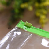 2018 El logo impreso personalizado de plástico transparente de PVC bolsa de embalaje de regalo Cosmética (Jp-Plastic003