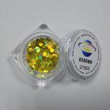 21503 sechseckige GoldHolo Schimmer-Nagel-Salon-Dekor-Funkeln-Flocken