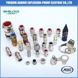 De industriële IP66 Dubbele Klieren van de Kabel van Amoured van het Metaal van de Compressie Explosiebestendige