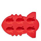 カスタムFDAの食品等級のシリコーンの角氷の皿、ゴム製氷型