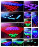 3D Infinirt Luz de piso de dança do LED do espelho para a fase casamento festa Discoteca