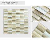 Tuile de mosaïque en verre beige de vente chaude de bande décorative d'intérieur de prix bas