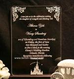 カスタムアクリルの結婚式の招待のカード