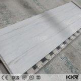 Lajes de superfície contínuas do teste padrão da textura de Corian para a bancada da cozinha