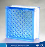 Кирпич декоративного пузыря голубой воды стеклянный/стеклянный блок