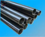 3K Twill de tubo de fibra de carbono satinado