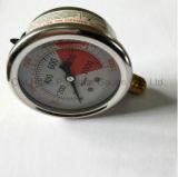 63mm Hittebestendige die Antisepsis en Olie - van Manometer wordt gevuld