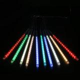 30cmは8つの管144 LEDs RGBの多色刷りの流星シャワー雨結婚披露宴のクリスマスXmasの装飾の木のための防水ストリングをつける