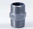 Gewinde-Schrauben-Hex Nippel 3/8inch des Edelstahl-Rohrfitting-SS304 BSPT NPT