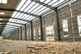 Edificio de acero prefabricado competitivo del almacén con el muro de cemento