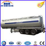 3 반 차축 45cbm 알루미늄 합금 원유 연료 유조 트럭 트레일러
