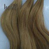 Qualidade superior loira 12 Polegadas ondulada U Dica de cabelo humano ramal