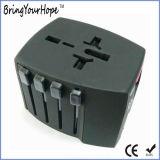 Colorer l'adaptateur universel de pouvoir de course de Muliti-Pays avec 2 USB (XH-UC-015)