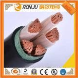 PE sur le fil de cuivre isolés résistants au feu des câbles électriques