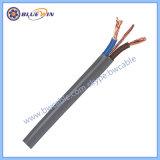vlakke Kabel 300/500V van de Kabel van het Halogeen 6242b 6243b de Vrije