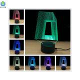 Kleines Nachtlicht der Tisch-Nachtlampen-3D LED mit Noten-Modus