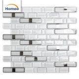 Простой стиль кухни Backsplash декоративные металлические Margin белый стеклянной мозаики плитки