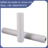 Cartouche filtrante de blessure de fil de chaîne de caractères de filé de PP/Fiberglass/Cotton