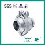 Válvula de verificação sanitária da soldadura do aço inoxidável do RUÍDO