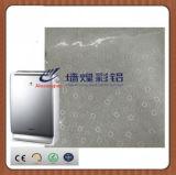 Placa de acero laminada película del PVC para el filtro de aire