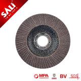 Metallo, acciaio e legno lucidanti il disco calcinato della falda dell'ossido di alluminio
