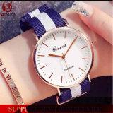 Reloj de nylon unisex de Dw Ginebra de la muñeca del cuarzo de la venda de la correa de la OTAN de la correa del estilo de la manera Yxl-627