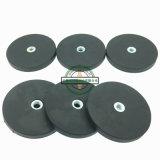 良質のねじ穴が付いているゴム製上塗を施してあるネオジムの鍋の磁石