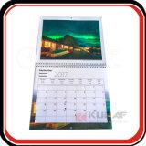 Stampa promozionale su ordinazione 2018 del calendario murale di formato di avvenimento A4
