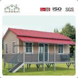Chalet prefabricado solar de dos pisos/casa modular de acero de la casa prefabricada del edificio