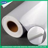 매트 자동 접착 백색 비닐 광고 매체