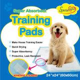Almofada de secagem rápida do XIXI do treinamento do Doggie com a fita pegajosa adesiva