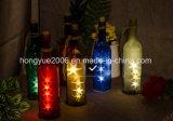 Cork van de Flessen van de wijn steekt Lichten 2 M/7.2 voet van het Koord van de Draad van het Koper LEIDENE van het Koper aan Draad 15 Bollen voor Fles DIY, het Huwelijk van Kerstmis