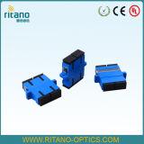 Adaptateur de fibre optique de Sc avec l'obturateur à la perte inférieure 0.15dB