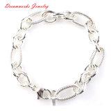 Monili all'ingrosso del braccialetto di fascino dell'argento della catena dell'acciaio inossidabile delle donne