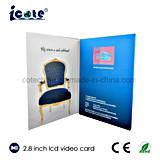 형식 2018 관례 LCD 영상 브로셔 또는 비디오 카드 광고를 위한 2.8 인치