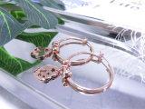 Серьга подарка конструкции плакировкой золота Rose уха формы клубники привесная просто шикарная