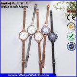 Montre occasionnelle en cuir d'ODM de montre faite sur commande de logo (WY-135D)