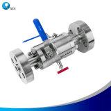 Edelstahl-hydraulischer Instrument Monoflange Doppelt-Block und Ablassventil