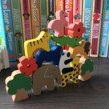 木の赤ん坊動物はギフトの子供の教育のバランスのゲームのおもちゃを妨げる